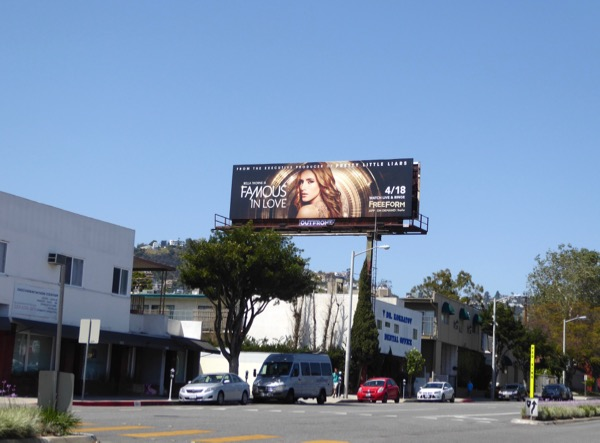 Famous in Love TV billboard