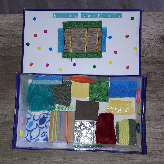 fabriquer boite sensorielle facile à toucher tutoriel