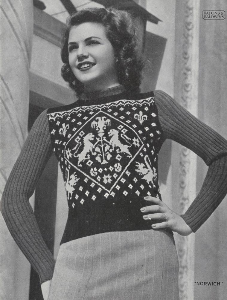 The Vintage Pattern Files 1940s Knitting Womens Scottish Fair