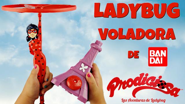 Ladybug voladora - flying ladybug - juguetes prodigiosa ladybug - miraculous ladybug toys