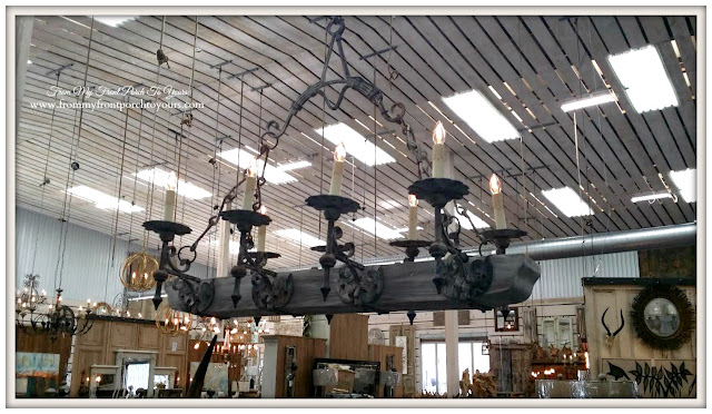 Rustic Chandelier-Round Top Texas-From My Front Porch To Yours
