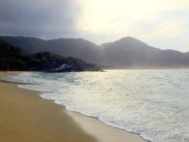Nudist beach in Tayrona National Park, Colombia