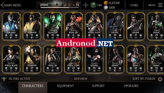 MORTAL KOMBAT X v1.13.0 Apk Data Full Mod Android (Infinite Health/Coint/Souls)