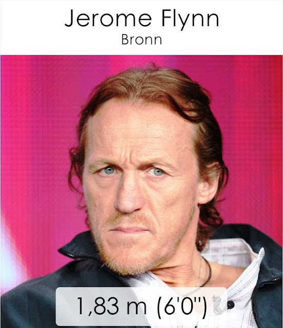 Jerome Flynn (Bronn) 1.83 m