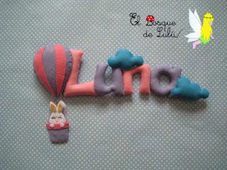 nombre-fieltro-decoración-infantil-elbosquedelulu-hechoamanoparati-detalle-nacimiento-felt-feltro-name-banner-baby-room