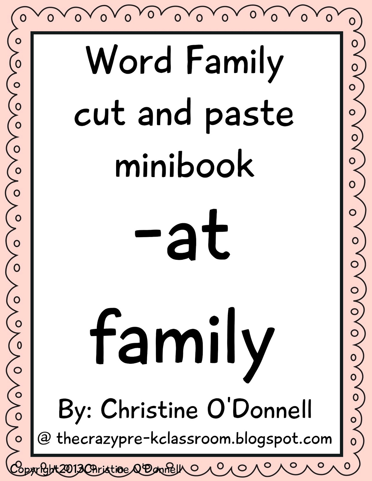 The Crazy Pre K Classroom Teaching With Word Families