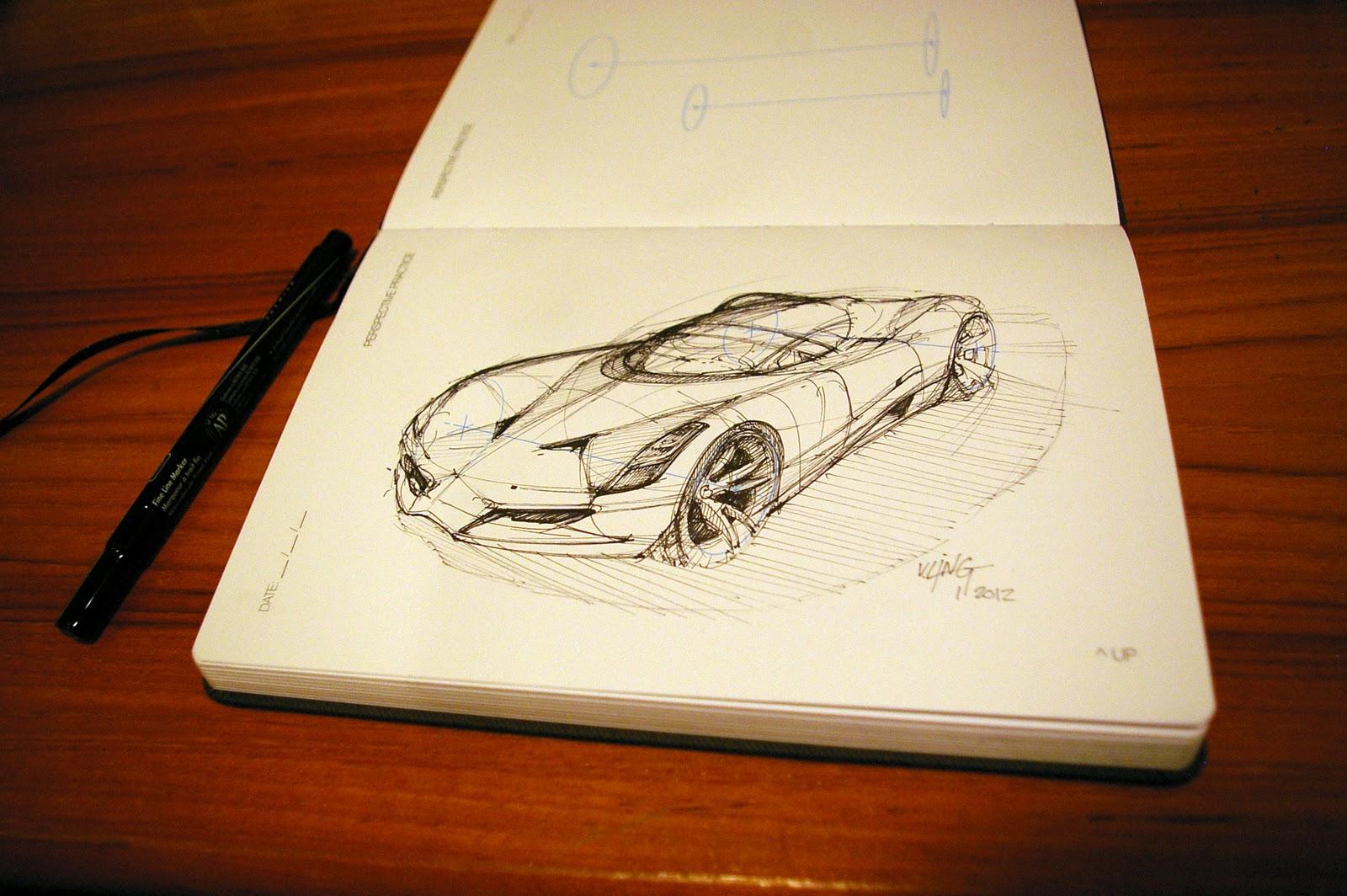 drew a car.