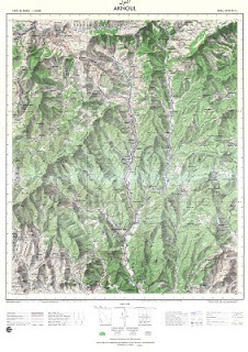 AKNOUL Morocco 50000 (50k) Topographic map free download