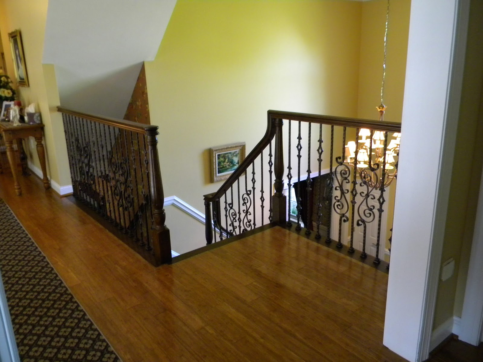 Here We Replace Stairs And Install New Oak Handrails And Install Beautiful  Old World Tuscan Style Iron Balusters In Blue Bell PA.