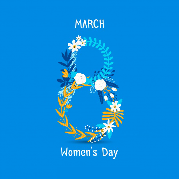 8 march International women's day hand drawn background Free Vector