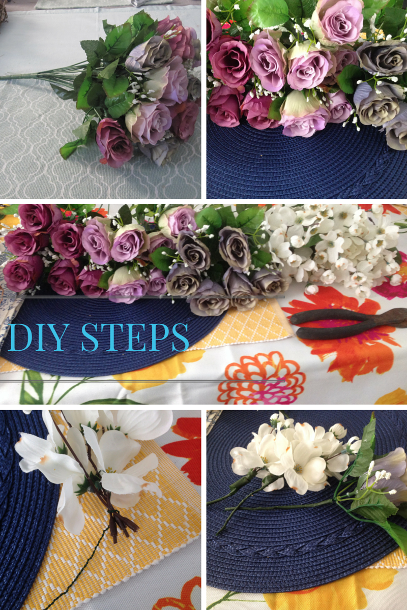 Steps for DIY floral wreath