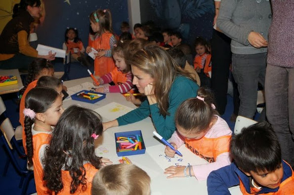 Princess Letizia visited the youth fair Madrid book at Conde Duque in Madrid