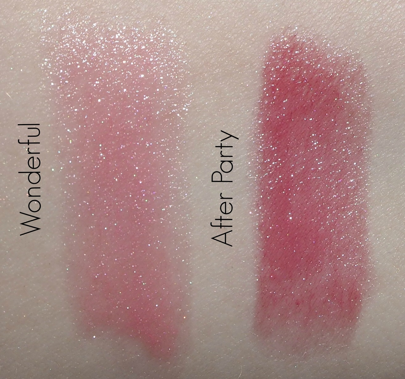 Dior Addict lipstick-Wonderful and After Party swatches