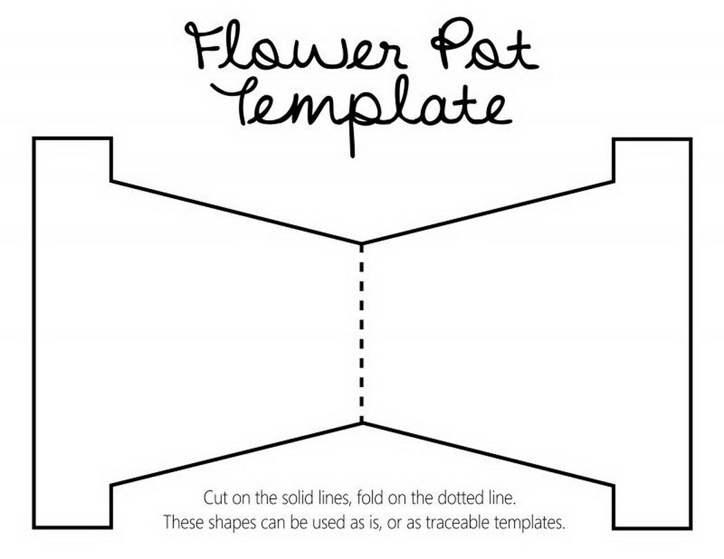 Best Flower Pot Template Coloring Pages Pictures - Free Coloring ...