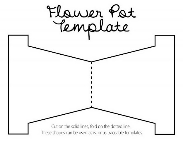 Coloring Pages Flower Pot  Click This Size Link