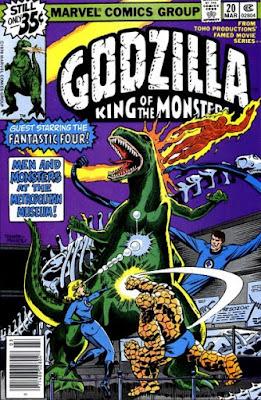 Godzilla #20, the Fantastic Four