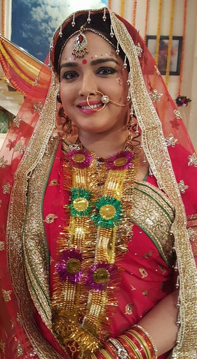 Amrapali In Red Dulhan Dress Photo