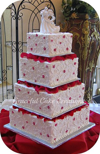 red and white square wedding cakes cakechannel world of cakes and white square 19094