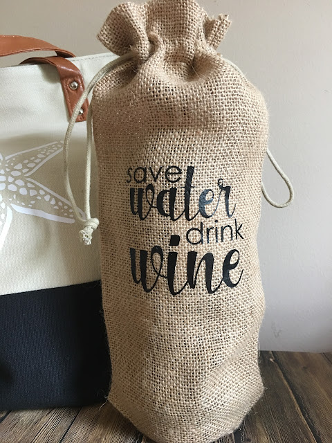 heat transfer vinyl on burlap jute wine bags discount wholesale