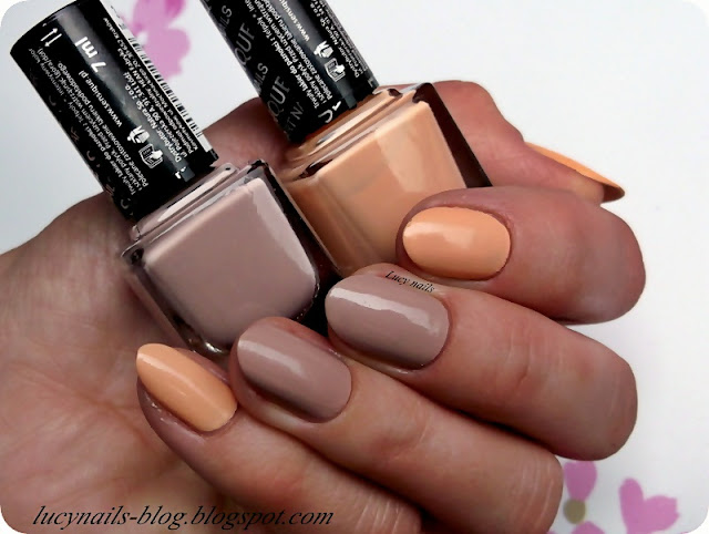sensique art nails  toffee cream i tamarillo