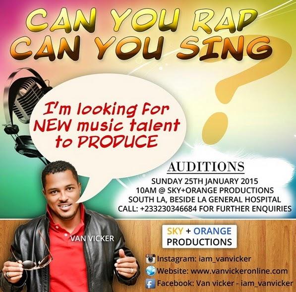 van vicker singing audition