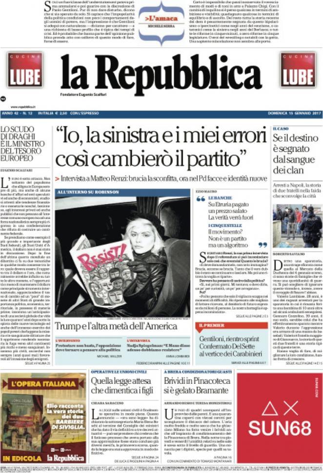 Reportages Quotidiani La Miglior Prima Pagina Di Oggi Domenica 15