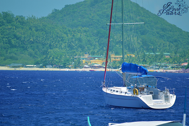 view of a yacht at Talipanan Beach