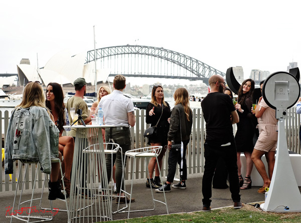 Models and fashionistas mingle with the beautiful Sydney Opera House and Bridge as a backdrop. Windsor Smith Celebrates 70 years at #HarbourLife Sydney 2016. Photographed by Kent Johnson for Street Fashion Sydney.