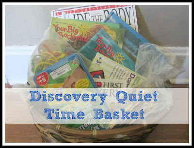 A Basket full of purposeful activities for non-nappers during nap-time #homeschool @UnlikelyHS