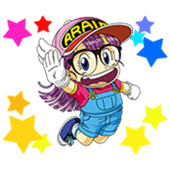 Dr.Slump -Arale- Animated Stickers