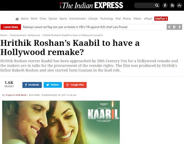 kaabil hollywood remake, bollywood 2017, quien es hrithik roshan, cine hindi 2017, astrologia vedica 2017, horoscopo vedico, mumbai bollywood