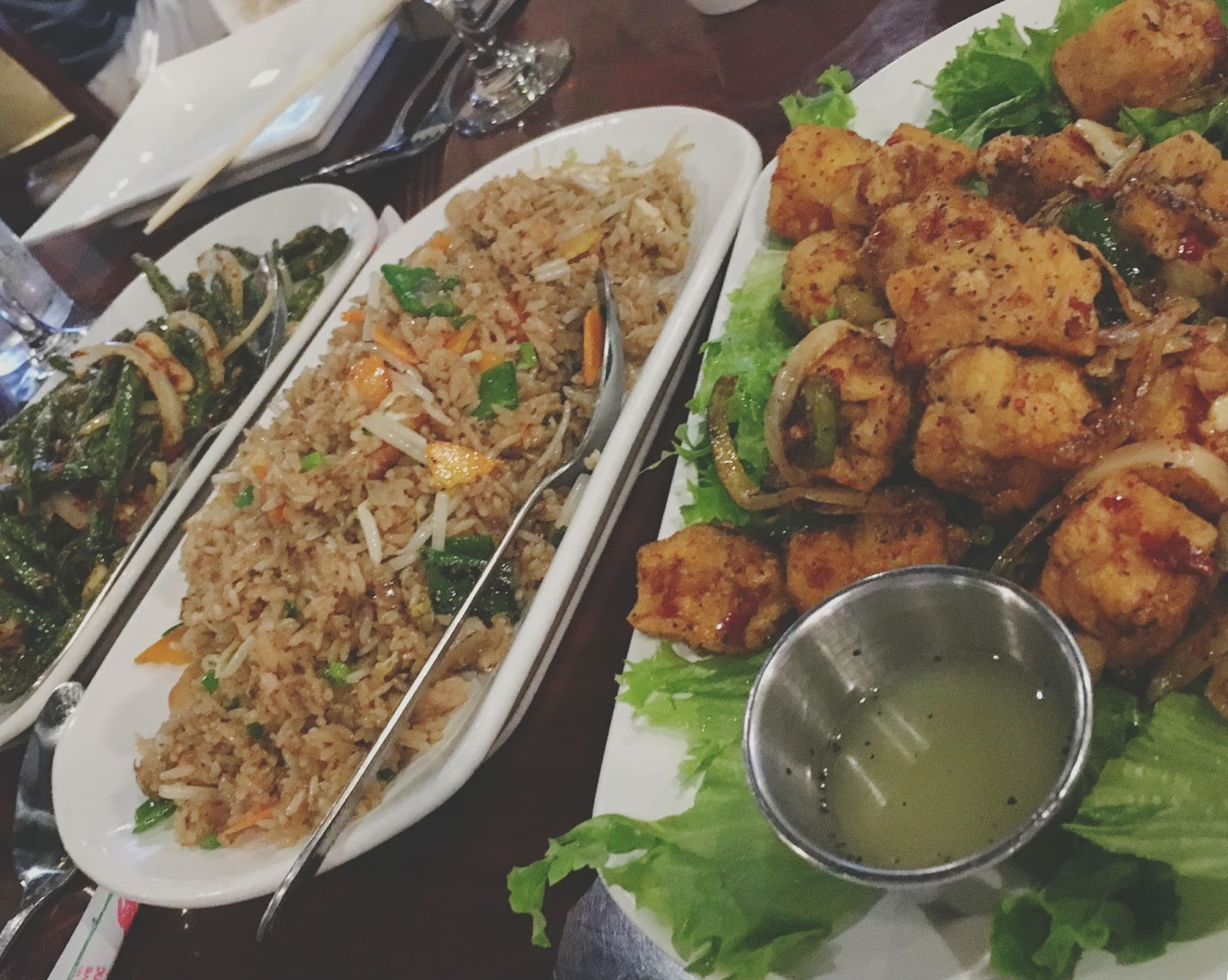 dinner at Vietnam Restaurant in Houston, Texas