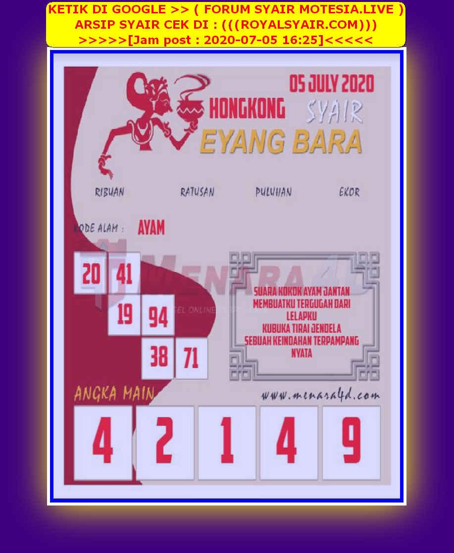 Kode syair Hongkong Minggu 5 Juli 2020 224