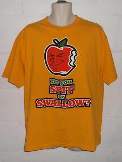 Carlito Attitude Era NSFW tee shirt SPIT or SWALLOW. StrengthFighter.com