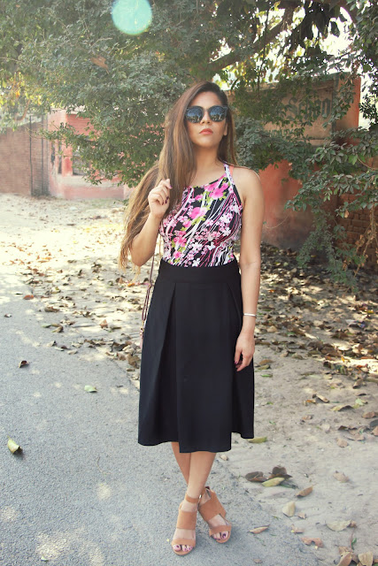 fashion, high waist skirt, box pleated skirt, floral spring top, how to style pleated skirt, chic summer outfit, classy date outfit, delhi fashion blogger, delhi blogger, indian blogger, indian fashion blogger, newchic, summer fashion,beauty , fashion,beauty and fashion,beauty blog, fashion blog , indian beauty blog,indian fashion blog, beauty and fashion blog, indian beauty and fashion blog, indian bloggers, indian beauty bloggers, indian fashion bloggers,indian bloggers online, top 10 indian bloggers, top indian bloggers,top 10 fashion bloggers, indian bloggers on blogspot,home remedies, how to