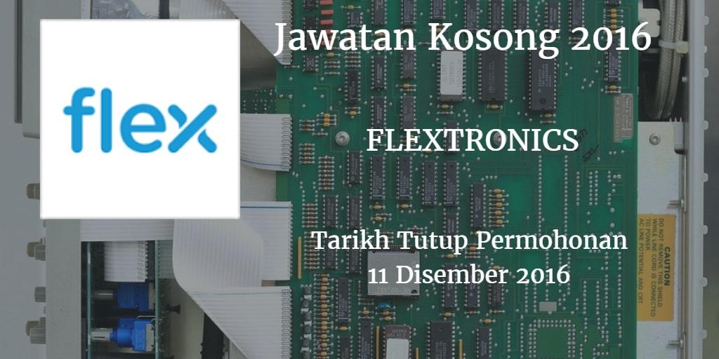 Jawatan Kosong FLEXTRONICS 11 Disember 2016