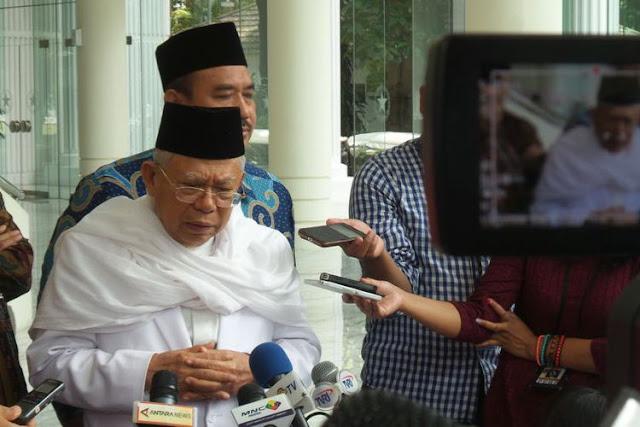 KH Ma'ruf Amin Klarifikasi Pemberitaan soal Pembekuan Masjid di Bogor