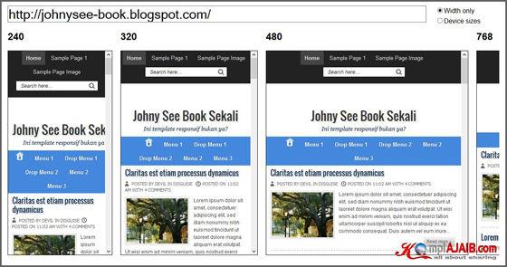 Blogger Template Yang Responsive