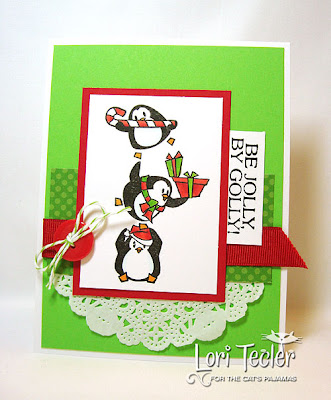 Be Jolly, By Golly-designed by Lori Tecler-Inking Aloud-stamps from The Cat's Pajamas