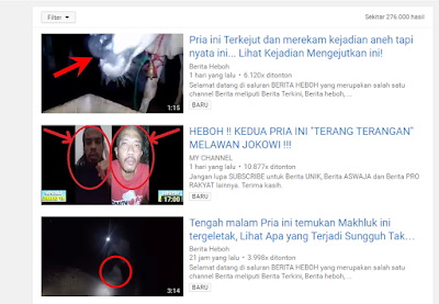 Ciri-ciri video Youtube hasil Re-Upload
