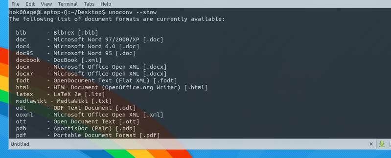 Ubuntu Buzz !: Unoconv: Make The Automated Document