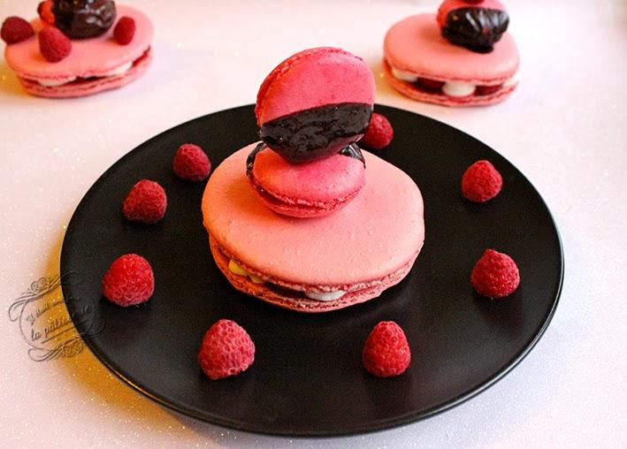 macarons rose framboise
