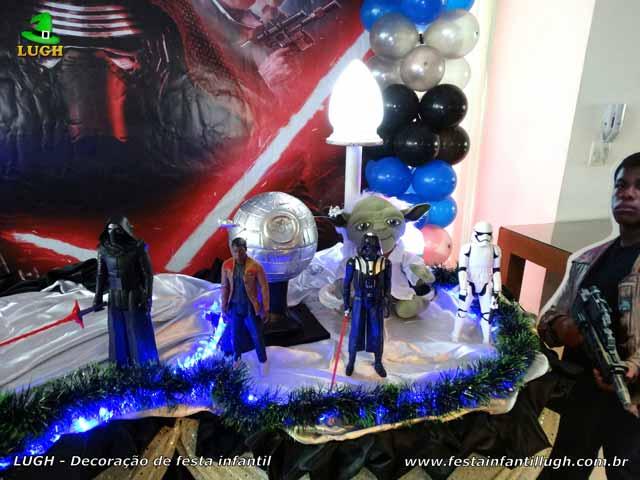 Tema Star Wars - Mesa temática decorada tradicional luxo de tecido