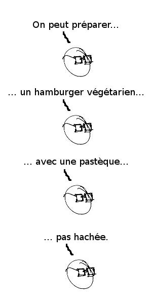 On peut préparer un hamburger végétarien avec une pastèque pas hachée.