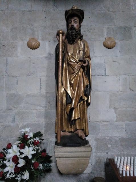 Puente de la Reina - Iglesia de Santiago - Talla del apostol Santiago