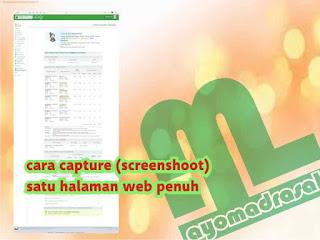 screenshot gambar website satu halaman penuh