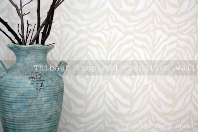 zebra stenciled wall