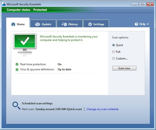 Cara Update File Database Microsoft Secuirty Essentials Secara Ofline