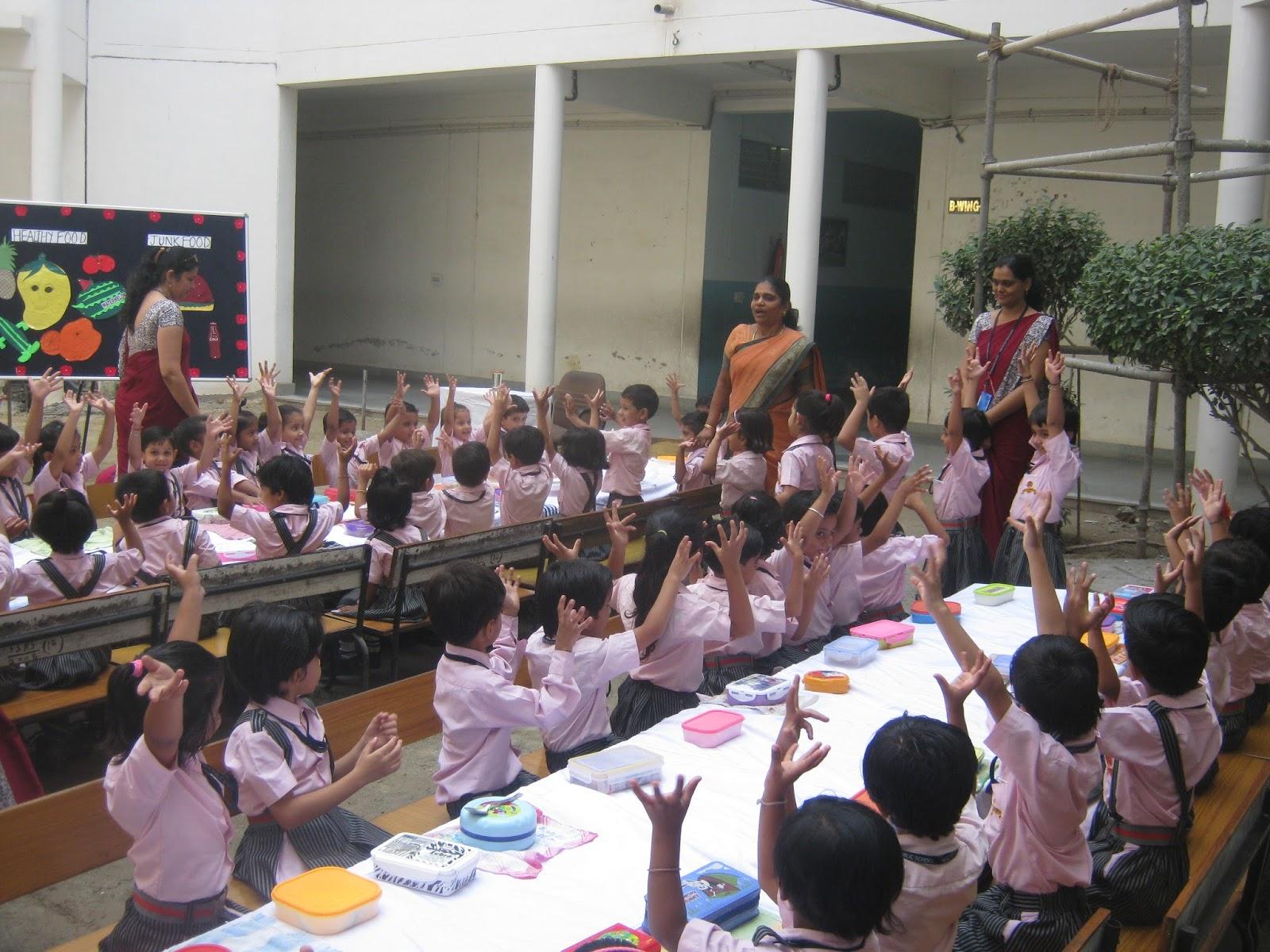 Saint Sol R Public School Pratap Nagar Jaipur Healthy Food And Junk Food Activity