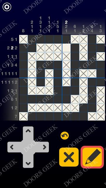 Picross Galaxy Level 6 Solution, Cheats, Walkthrough